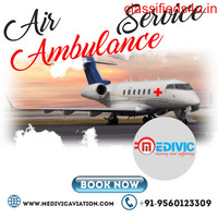 Hire Medivic Air Ambulance Service in Siliguri at Sufficient Price