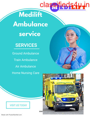 Avail Emergency Service: Ambulance Service in Sealdah, West Bengal at Low-Cost by Medilift