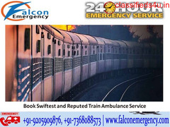 Get Falcon Emergency Train Ambulance Patient Transfer Services in Bangalore at Genuine Budget